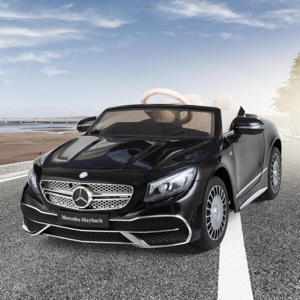 Licensed Mercedes-Benz S650 12V Ride on Car for Kids, Black licensed maybach s650 12v ride on car for kids black 2