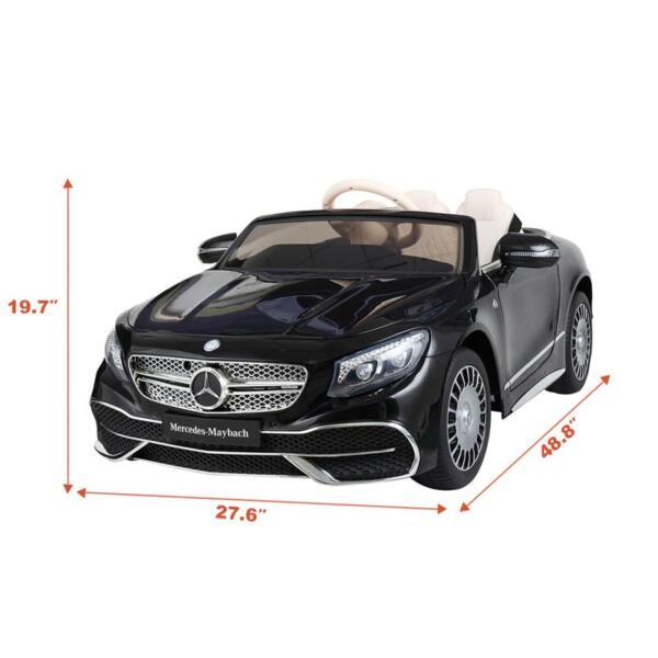 Licensed Mercedes-Benz S650 12V Ride on Car for Kids, Black licensed maybach s650 12v ride on car for kids black 20 1