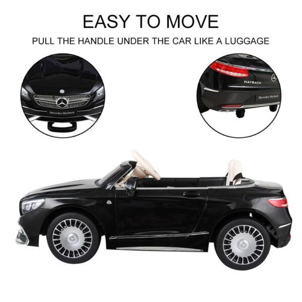 Licensed Mercedes-Benz S650 12V Ride on Car for Kids, Black licensed maybach s650 12v ride on car for kids black 5