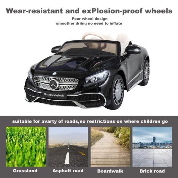 Licensed Mercedes-Benz S650 12V Ride on Car for Kids, Black licensed maybach s650 12v ride on car for kids black 6