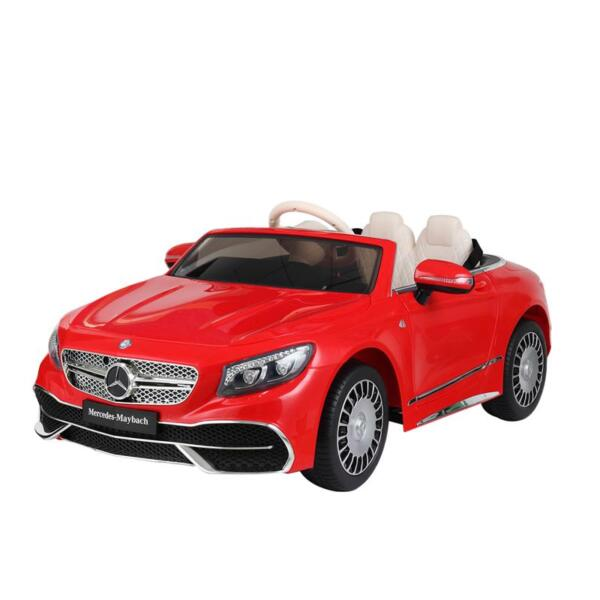 12V Mercedes-Maybach Kids Ride on Car with Remote Conrtol, Red licensed maybach s650 12v ride on car for kids red 19