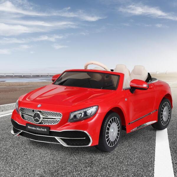 Licensed Mercedes-Benz S650 12V Ride on Car for Kids, Red licensed maybach s650 12v ride on car for kids red 2