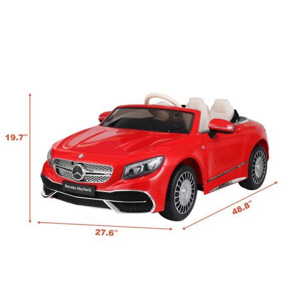 Licensed Mercedes-Benz S650 12V Ride on Car for Kids, Red licensed maybach s650 12v ride on car for kids red 20 1