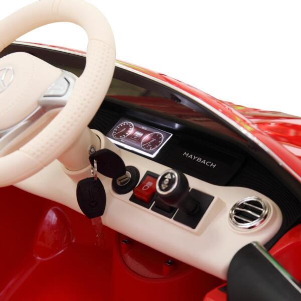 Licensed Mercedes-Benz S650 12V Ride on Car for Kids, Red licensed maybach s650 12v ride on car for kids red 28
