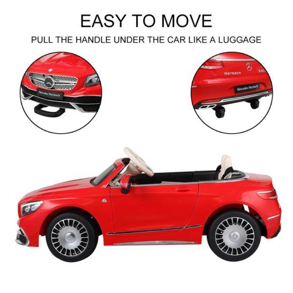 Licensed Mercedes-Benz S650 12V Ride on Car for Kids, Red licensed maybach s650 12v ride on car for kids red 5