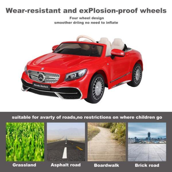 Licensed Mercedes-Benz S650 12V Ride on Car for Kids, Red licensed maybach s650 12v ride on car for kids red 6