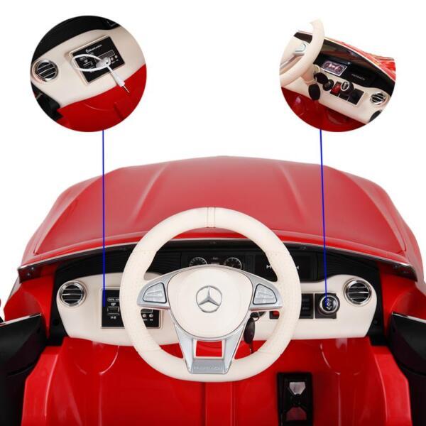 Licensed Mercedes-Benz S650 12V Ride on Car for Kids, Red licensed maybach s650 12v ride on car for kids red 8