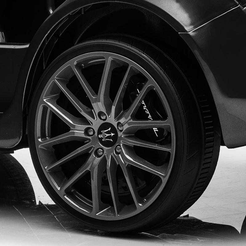 Maserati Kids Car 12V Ride On With Remote, Black maserati 12v rechargeable toy vehicle black 0 2
