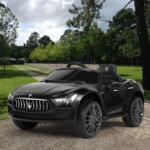 Maserati Kids Car 12V Ride On With Remote, Black maserati 12v rechargeable toy vehicle black 10