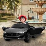 Maserati Kids Car 12V Ride On With Remote, Black maserati 12v rechargeable toy vehicle black 11