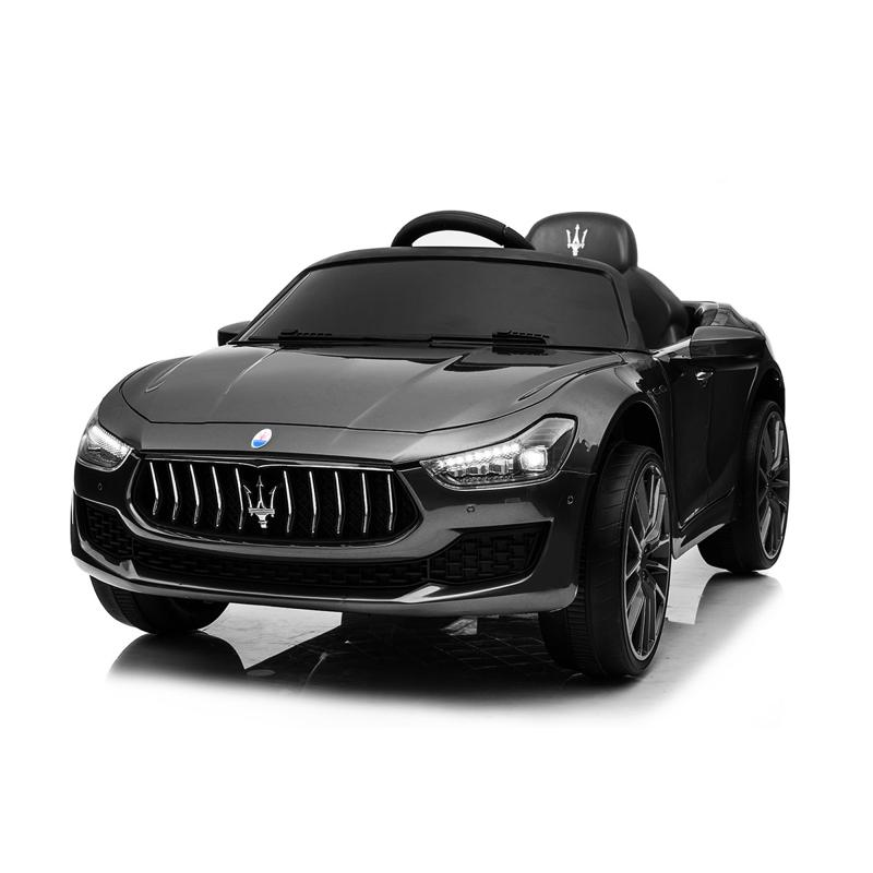 Maserati Kids Car 12V Ride On With Remote, Black maserati 12v rechargeable toy vehicle black 13