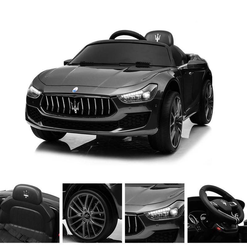 Maserati Kids Car 12V Ride On With Remote, Black maserati 12v rechargeable toy vehicle black 20 2
