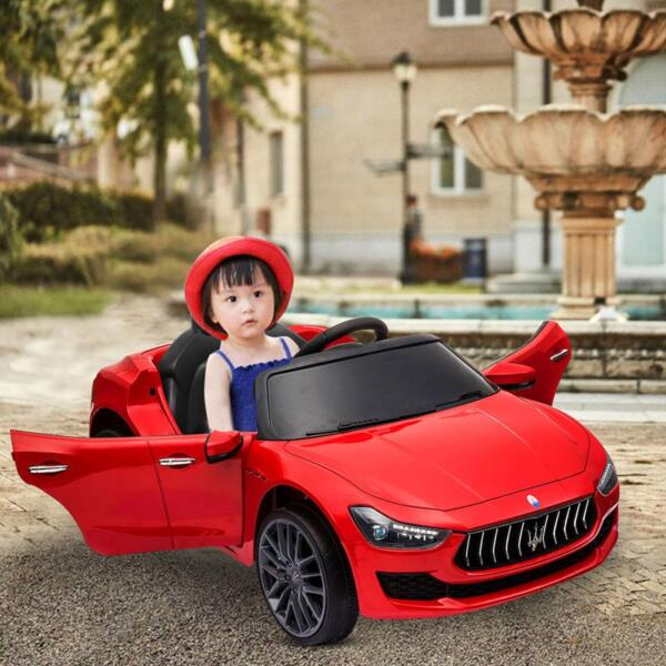 Maserati Kids Car 12V Ride On With Remote, Red maserati 12v rechargeable toy vehicle red 9