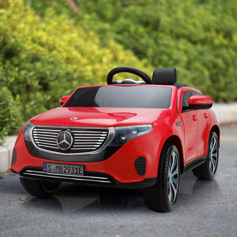 Mercedes-Benz EQC Officially Licensed Ride-On Kid's Toy Car, Red mercedes benz eqc licensed ride on kids electric car red 12 1