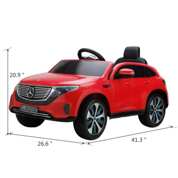 Mercedes-Benz EQC Officially Licensed Ride-On Kid's Toy Car, Red mercedes benz eqc licensed ride on kids electric car red 13