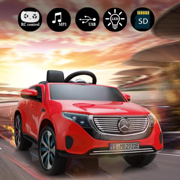Mercedes-Benz EQC Officially Licensed Ride-On Kid's Toy Car, Red mercedes benz eqc licensed ride on kids electric car red 15