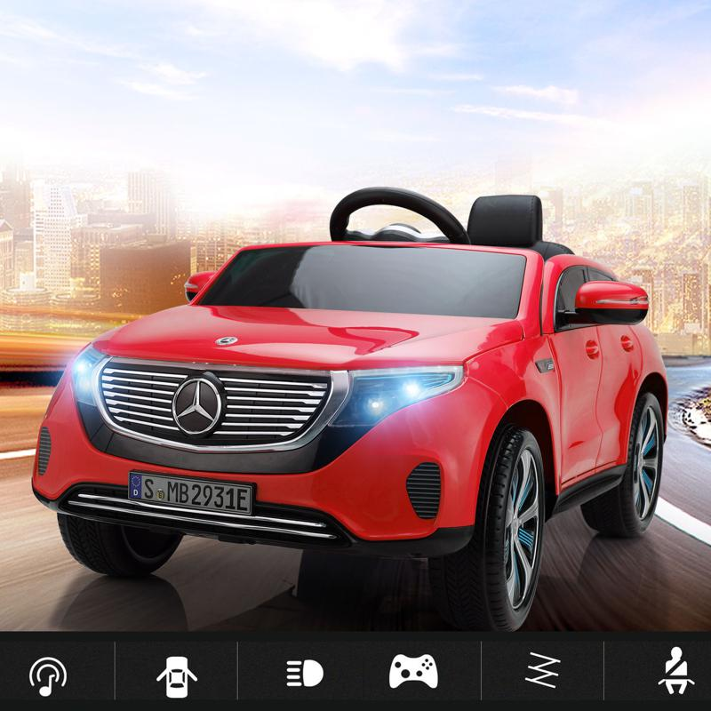 Mercedes-Benz EQC Officially Licensed Ride-On Kid's Toy Car, Red mercedes benz eqc licensed ride on kids electric car red 16 2
