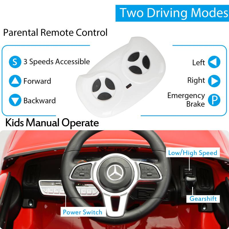 Mercedes-Benz EQC Officially Licensed Ride-On Kid's Toy Car, Red mercedes benz eqc licensed ride on kids electric car red 24 1