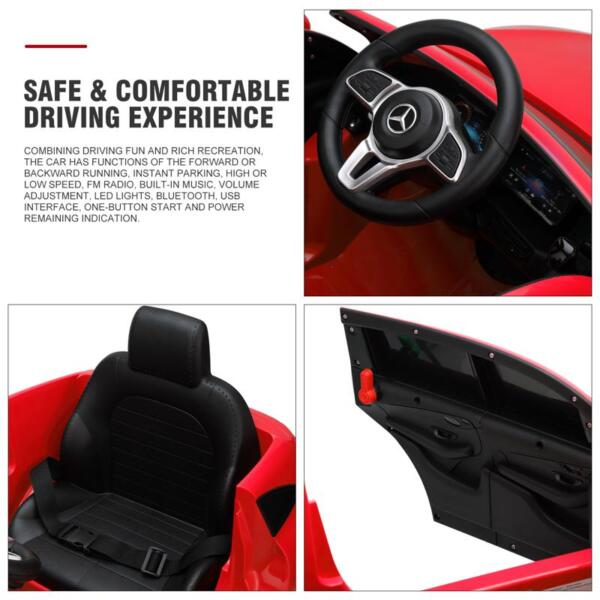 Mercedes-Benz EQC Officially Licensed Ride-On Kid's Toy Car, Red mercedes benz eqc licensed ride on kids electric car red 26 1