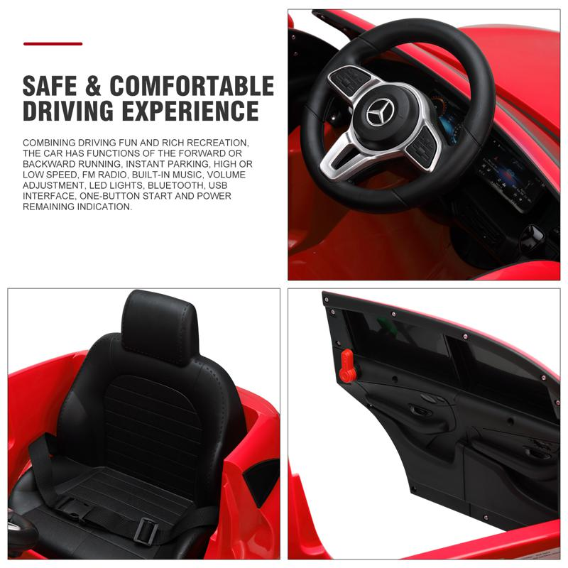 Mercedes-Benz EQC Officially Licensed Ride-On Kid's Toy Car, Red mercedes benz eqc licensed ride on kids electric car red 26 2
