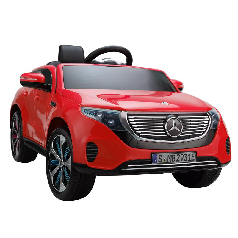 Mercedes-Benz EQC Officially Licensed Ride-On Kid's Toy Car, Red mercedes benz eqc licensed ride on kids electric car red 4 1
