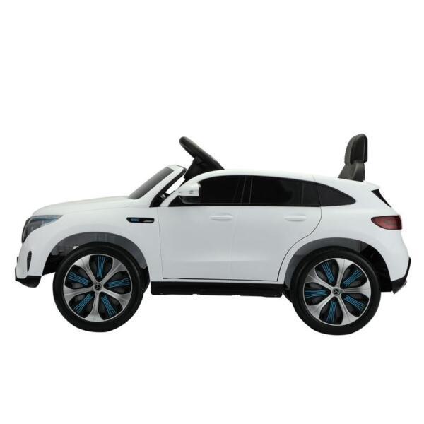 Mercedes Benz EQC Licensed Ride-On Kids Electric Car, White mercedes benz eqc licensed ride on kids electric car white 0 1