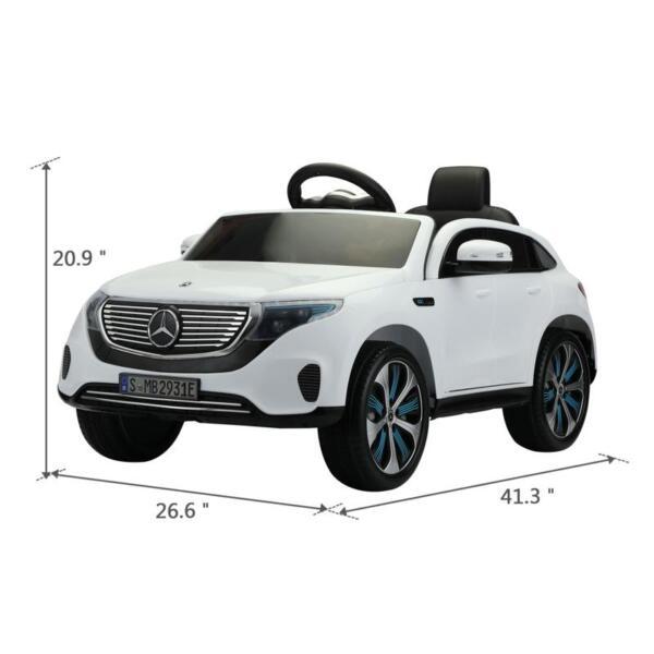 Mercedes Benz EQC Licensed Ride-On Kids Electric Car, White mercedes benz eqc licensed ride on kids electric car white 15