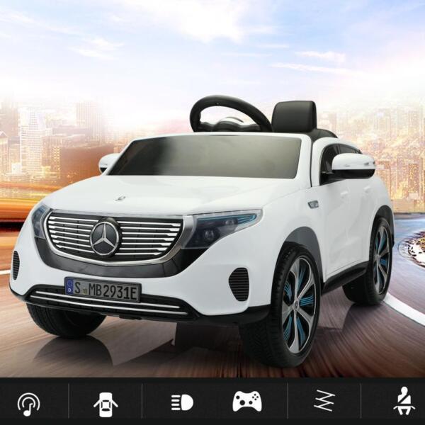 Mercedes Benz EQC Licensed Ride-On Kids Electric Car, White mercedes benz eqc licensed ride on kids electric car white 16
