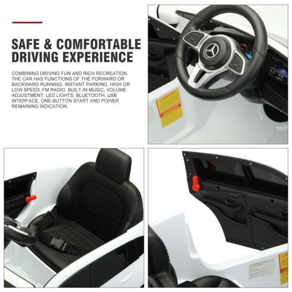 Mercedes Benz EQC Licensed Ride-On Kids Electric Car, White mercedes benz eqc licensed ride on kids electric car white 28 1