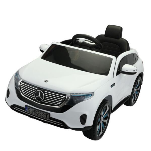 Mercedes Benz EQC Licensed Ride-On Kids Electric Car, White mercedes benz eqc licensed ride on kids electric car white 3