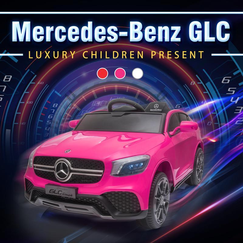 MercedesBenz GLC Licensed Kid's Electric Toy Car Vehicle, Pink mercedes benz glc licensed 12v kids eleectric car pink 16 2