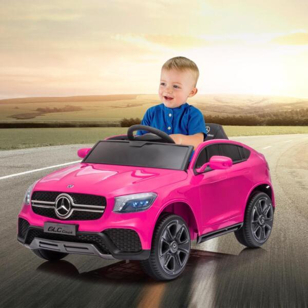 MercedesBenz GLC Licensed Kid's Electric Toy Car Vehicle, Pink mercedes benz glc licensed 12v kids eleectric car pink 18