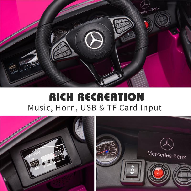 MercedesBenz GLC Licensed Kid's Electric Toy Car Vehicle, Pink mercedes benz glc licensed 12v kids eleectric car pink 38 2