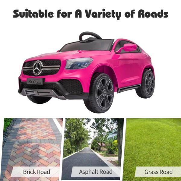 MercedesBenz GLC Licensed Kid's Electric Toy Car Vehicle, Pink mercedes benz glc licensed 12v kids eleectric car pink 40 1