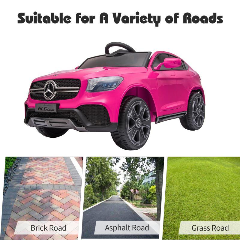 MercedesBenz GLC Licensed Kid's Electric Toy Car Vehicle, Pink mercedes benz glc licensed 12v kids eleectric car pink 40 2