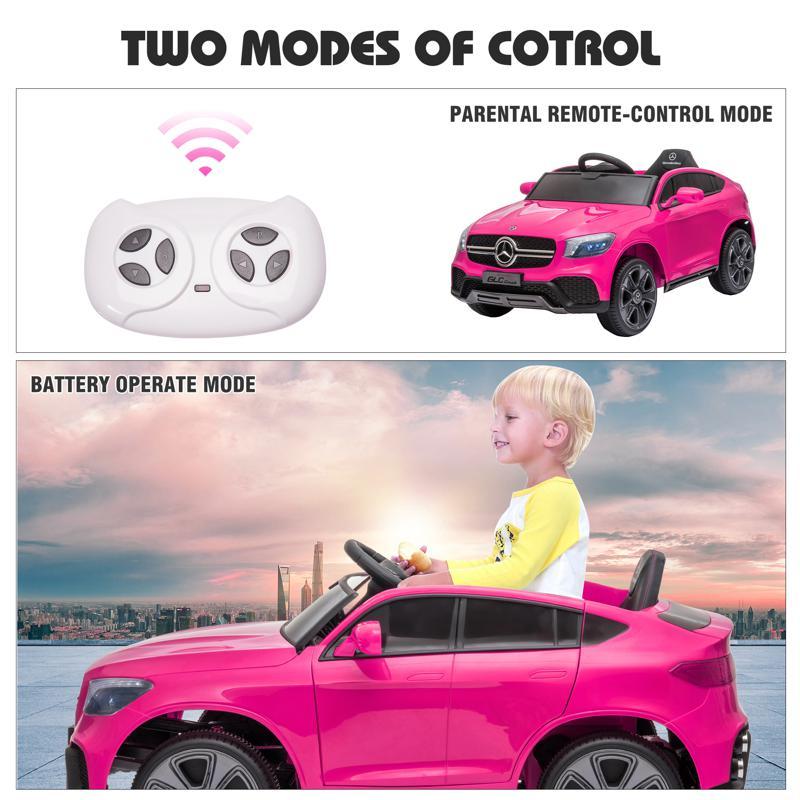 MercedesBenz GLC Licensed Kid's Electric Toy Car Vehicle, Pink mercedes benz glc licensed 12v kids eleectric car pink 43 2