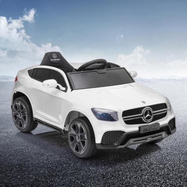 MercedesBenz GLC Licensed Kid's Electric Toy Car Vehicle, White mercedes benz glc licensed 12v kids eleectric car white 16 1
