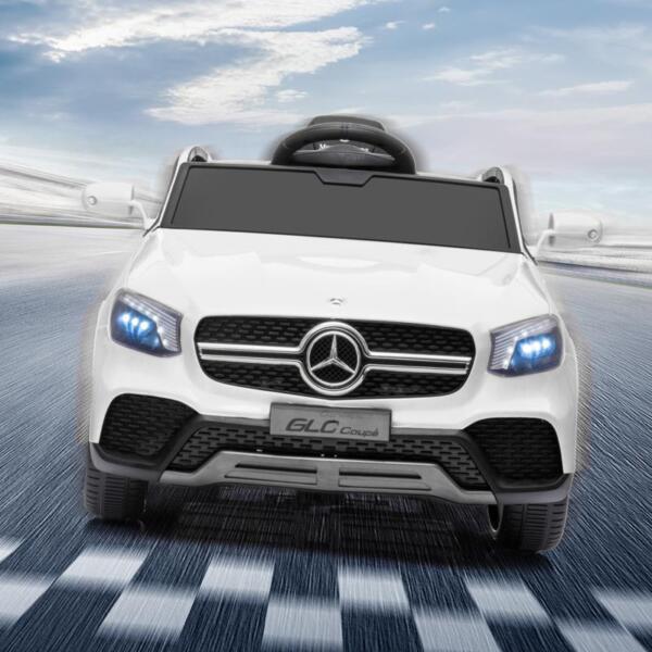MercedesBenz GLC Licensed Kid's Electric Toy Car Vehicle, White mercedes benz glc licensed 12v kids eleectric car white 17 1