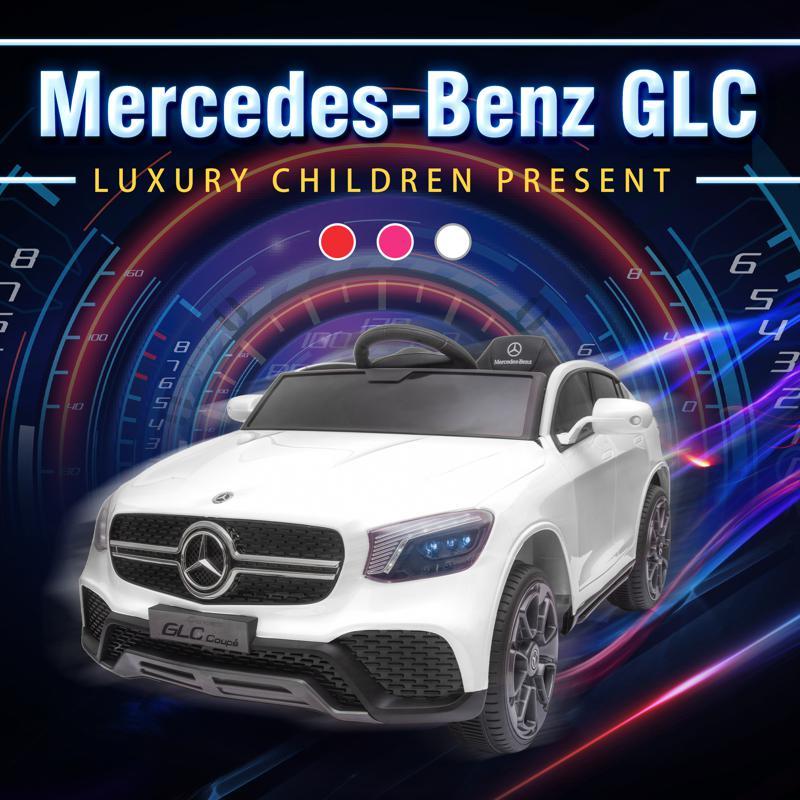 MercedesBenz GLC Licensed Kid's Electric Toy Car Vehicle, White mercedes benz glc licensed 12v kids eleectric car white 19 3