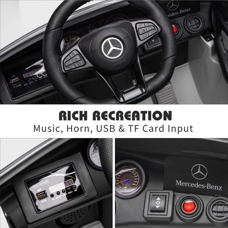 MercedesBenz GLC Licensed Kid's Electric Toy Car Vehicle, White mercedes benz glc licensed 12v kids eleectric car white 36 2