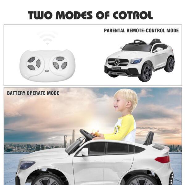 MercedesBenz GLC Licensed Kid's Electric Toy Car Vehicle, White mercedes benz glc licensed 12v kids eleectric car white 41 3