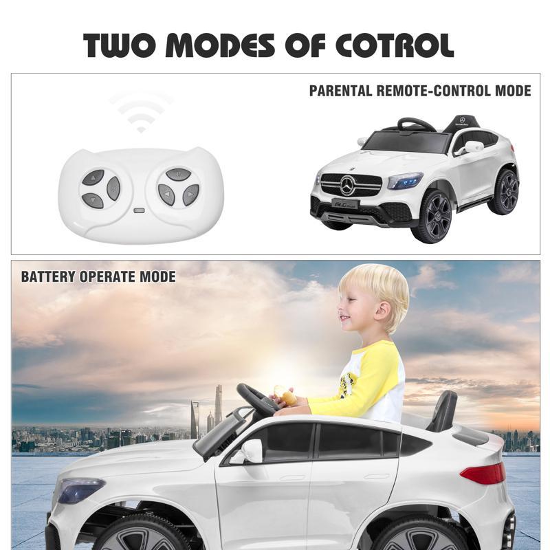 MercedesBenz GLC Licensed Kid's Electric Toy Car Vehicle, White mercedes benz glc licensed 12v kids eleectric car white 41 4