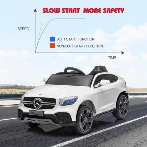 MercedesBenz GLC Licensed Kid's Electric Toy Car Vehicle, White mercedes benz glc licensed 12v kids eleectric car white 43 2