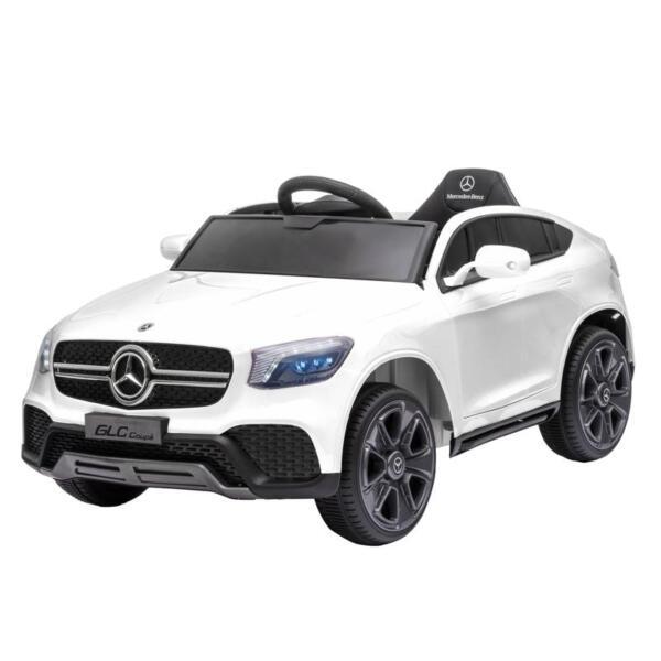 MercedesBenz GLC Licensed Kid's Electric Toy Car Vehicle, White mercedes benz glc licensed 12v kids eleectric car white 7