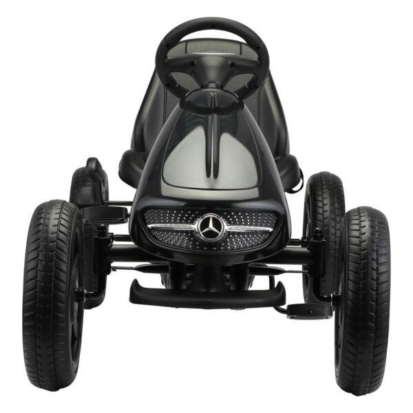 Mercedes Benz Kids Go Kart Ride On Car For Children, Black mercedes benz go kart for kids 4 wheel powered black 1