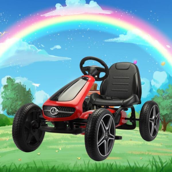Mercedes Benz Go Kart for Kids 4 Wheel Powered, Red mercedes benz go kart for kids 4 wheel powered red 12