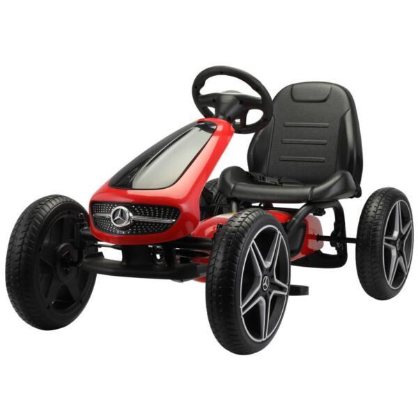Mercedes Benz Go Kart for Kids 4 Wheel Powered, Red mercedes benz go kart for kids 4 wheel powered red 2