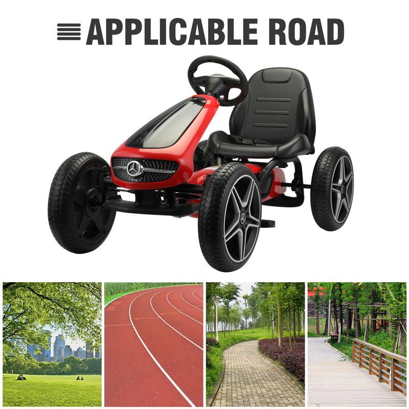 Mercedes Benz Kids Go Kart Ride On Car For Children, Red mercedes benz go kart for kids 4 wheel powered red 29 1