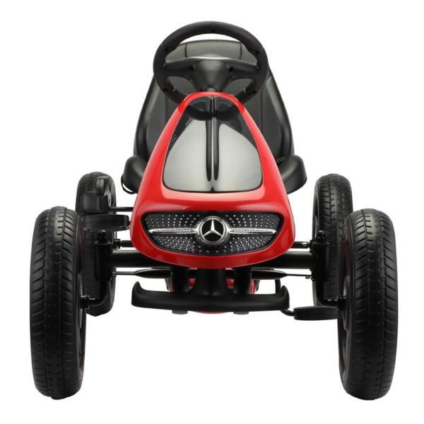 Mercedes Benz Go Kart for Kids 4 Wheel Powered, Red mercedes benz go kart for kids 4 wheel powered red 3