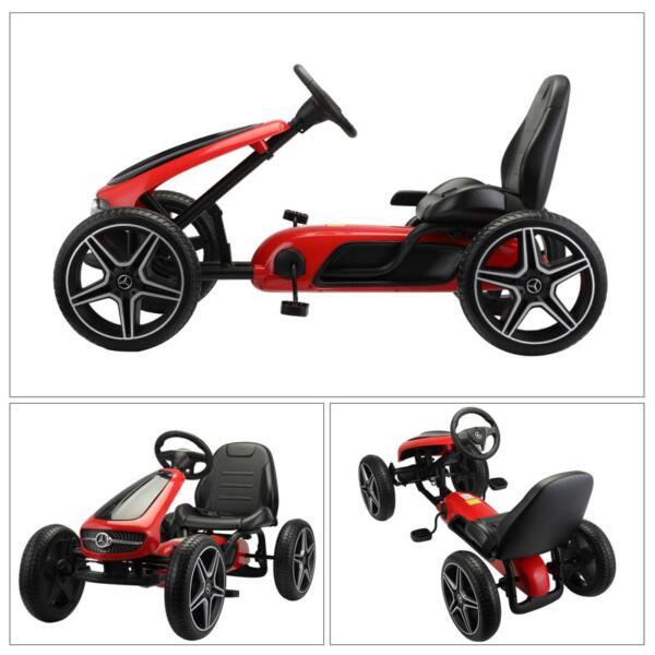 Mercedes Benz Go Kart for Kids 4 Wheel Powered, Red mercedes benz go kart for kids 4 wheel powered red 30